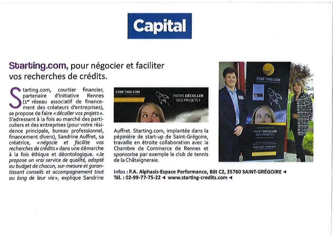 Starting Credits - Courtier à Rennes pour vos prêts immobiliers, rachat de prêt - capital mag